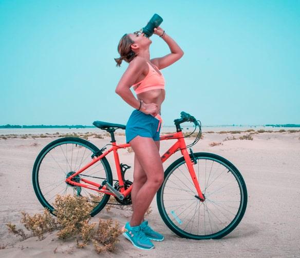 hidratación entrnamiento con rodillo
