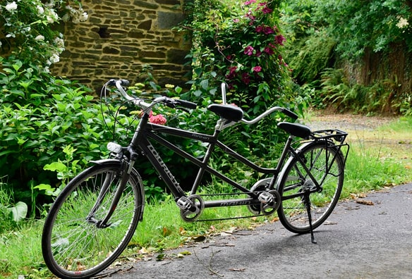 bici tándem doble para parejas